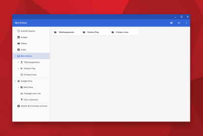 L'application fichiers de ChromeOS se réorganise