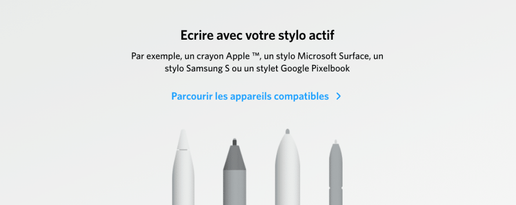 Nebo et les stylets actif sur Chromebook