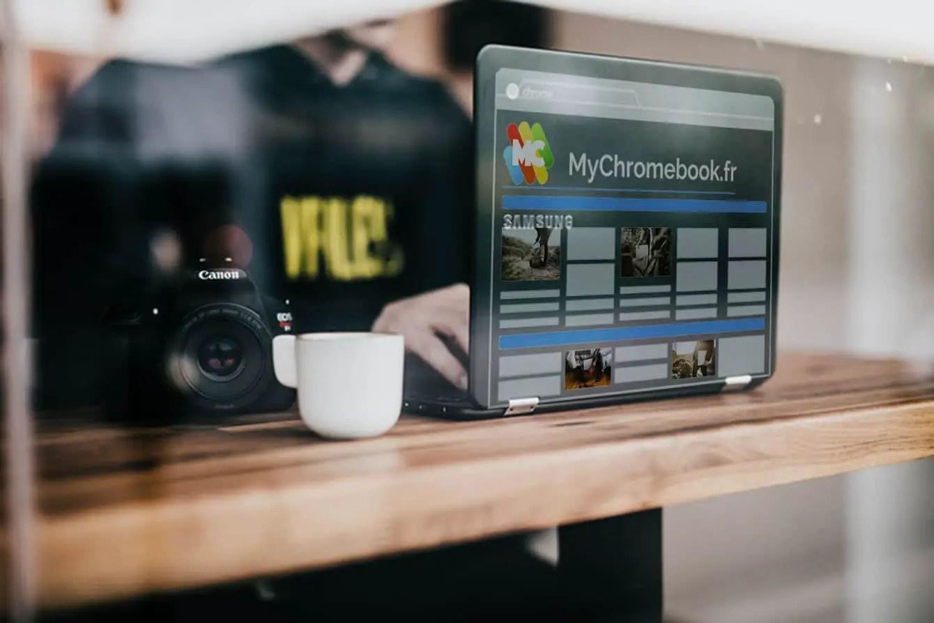 Photographie d'un Chromebook