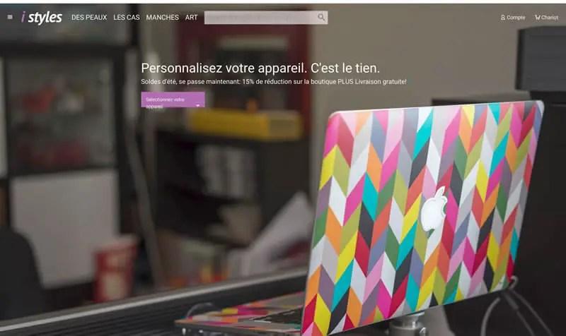 Page d'accueil du site i styles