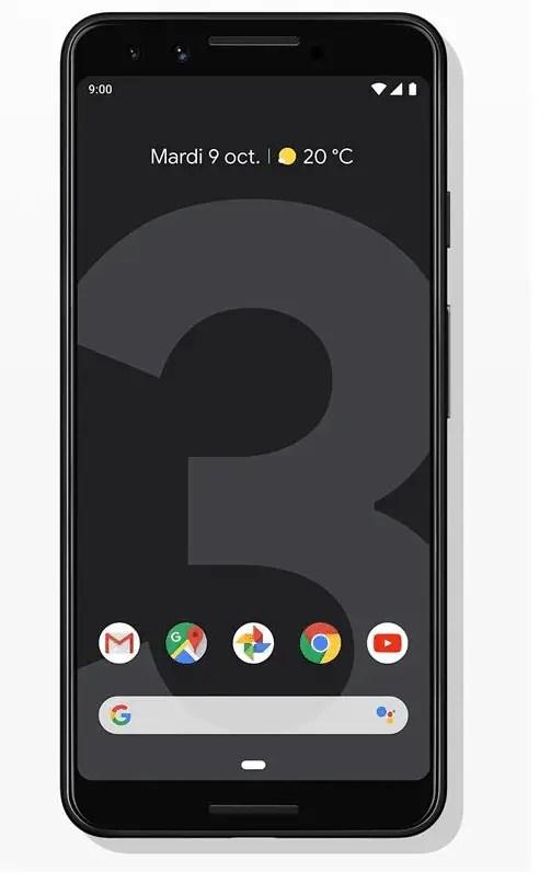 Smartphone Google Pixel 3 64 Go Simplement noir
