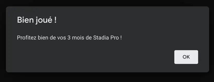 Stadia Pro offert pendant 3 mois pour les possesseurs de Chromebook