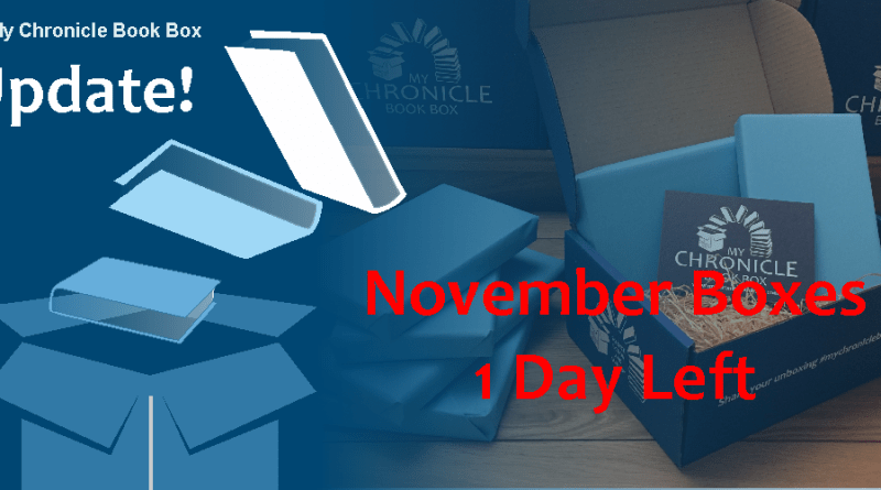 My Chronicle Book Box 1 day left of November 2017 box banner