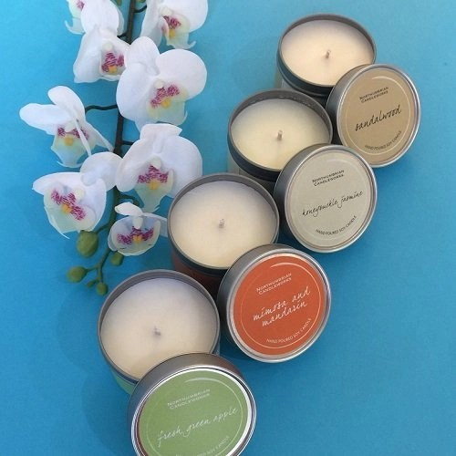 Organic soy based and beautifully scented candle tin Nov 17 box