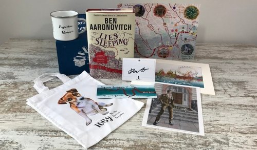 Rivers of London - Book box special - Lies Sleeping - Ben Aaronovitch - box contents
