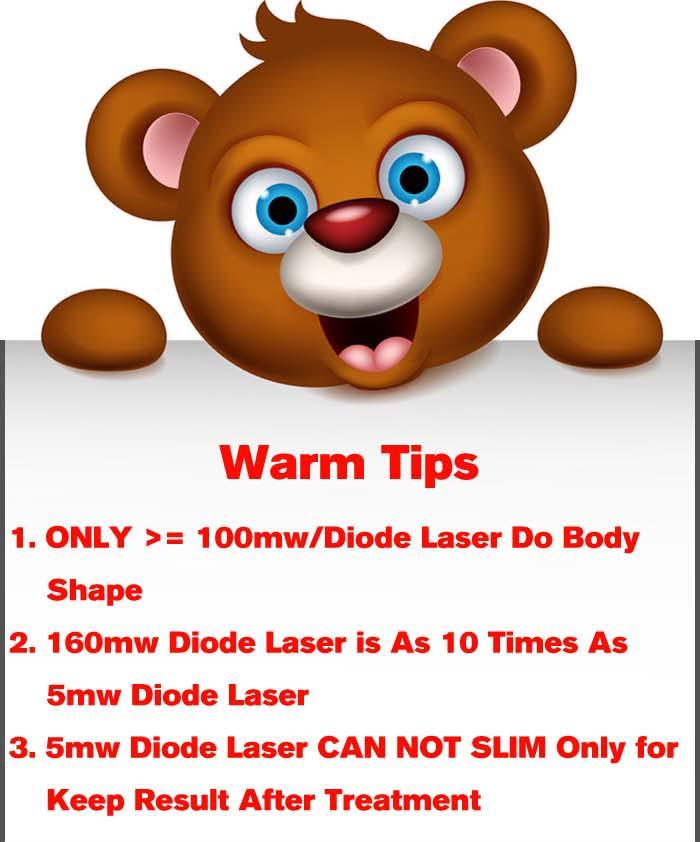 Warm tips diode laser