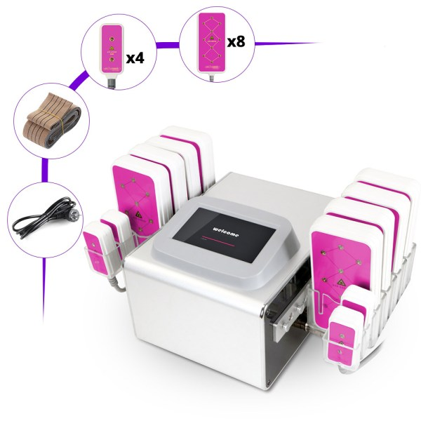 650NM LED Laser 5MW 12 pads Body Slimming Machine