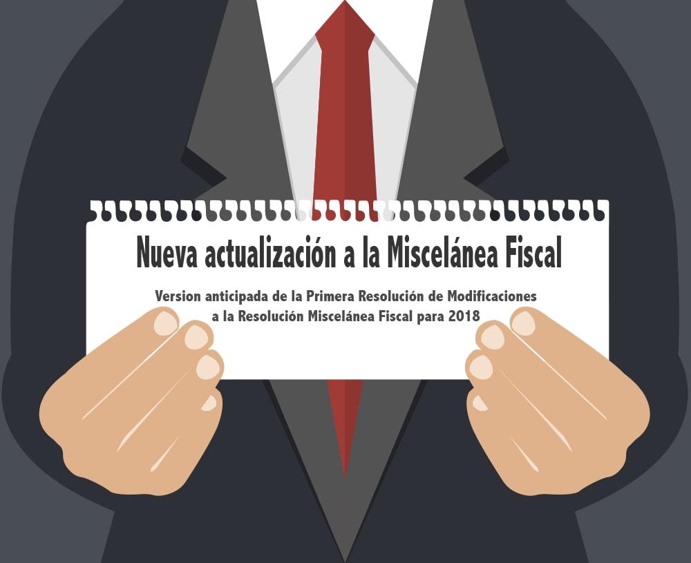 Nueva actualización a la Miscelánea Fiscal