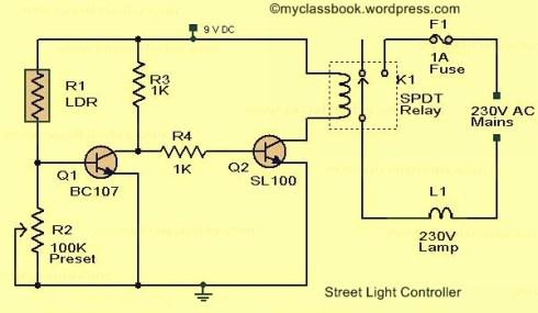 Street Light Circuit Using LDR Electronics Project  MyClassBook