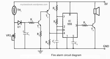 Fire alarm circuit diagram