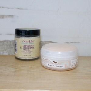 exfoliante y crema