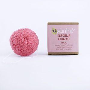 exfoliante con pétalos de rosas