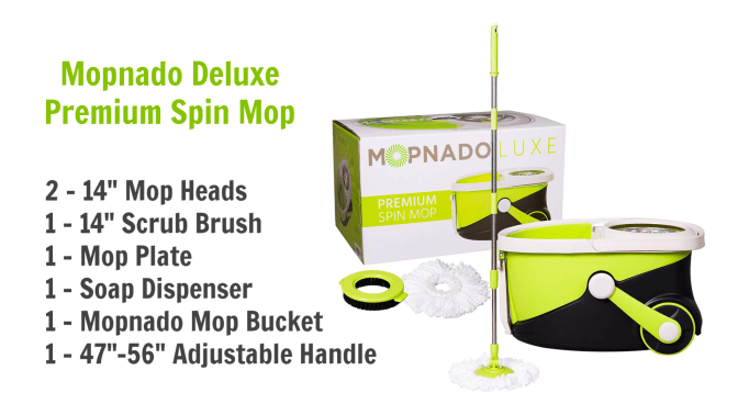 Deluxe Spin Mop And Bucket