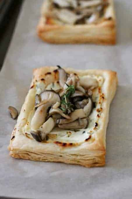 Oyster Mushroom & Goat Cheese Tarts