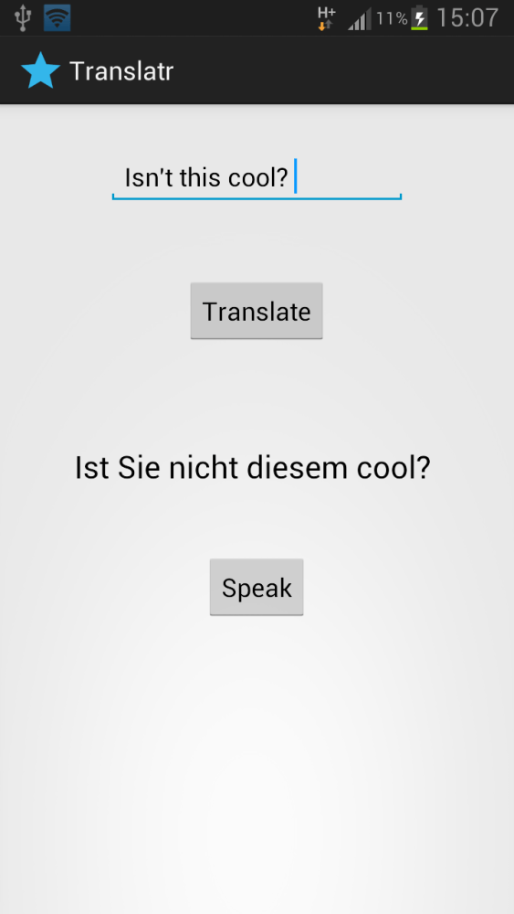 Android Tutorials << Building a Language Translator App with Text To Speech feature