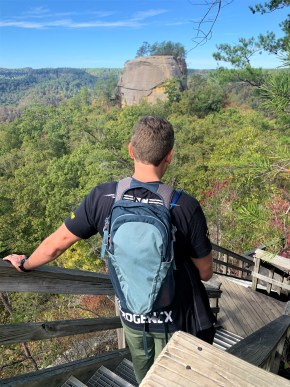 Evan at Red River Gorge - My Colorful Wanderings Blog