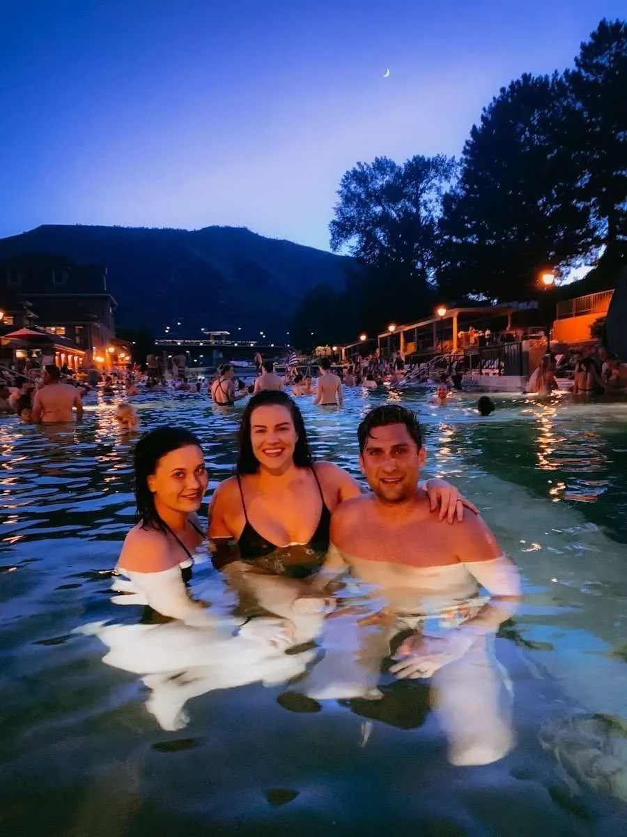 Friends at Glenwood Hot Spring,Colorado