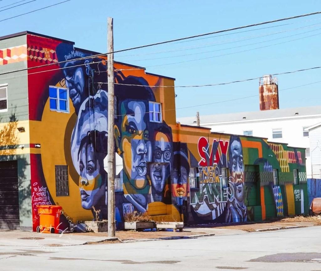 Breonna Taylor George Floyd Mural - Louisville Murals