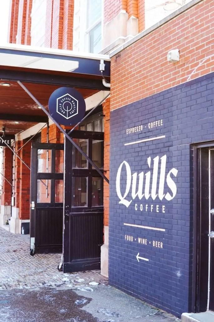 Quills Coffee Mural - Louisville Murals
