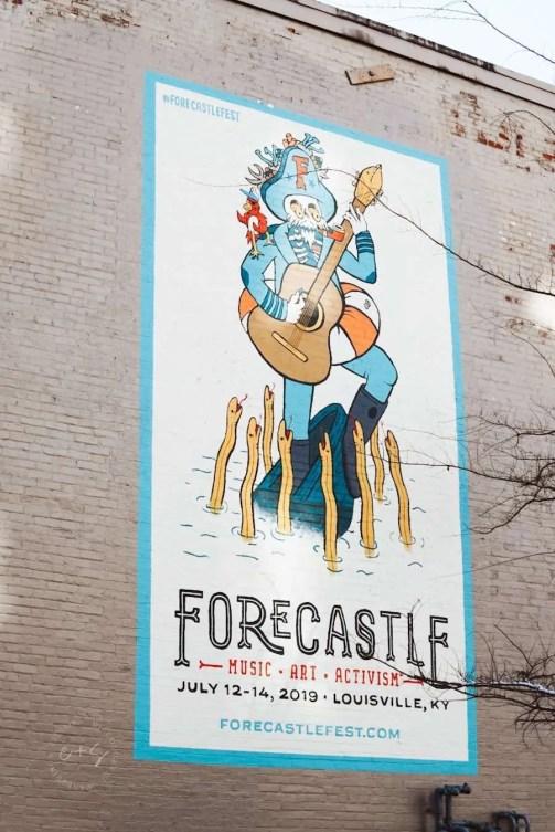 Forecastle Fest Mural - Louisville Murals