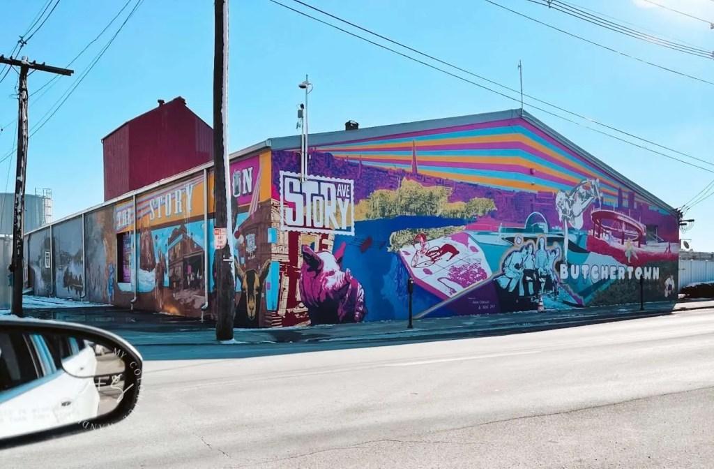 butchertown story ave mural Louisville Kentucky mural art