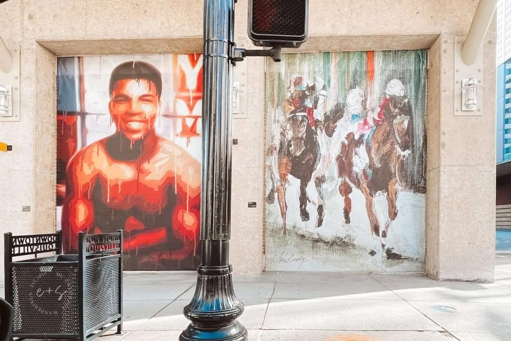 Muhammed Ali Mural Horse Racing Louisville Murals