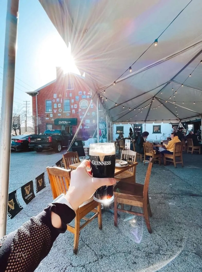 The Irish Rover patio Louisville, Ky- Louisville, KY, United States - Louisville Rooftop Bars - heated patios in louisville, Louisville's Best Patios, Louisville Outdoor Dining During Covid, Outdoor Seating Restaurants in Louisville, Best patio Restaurants in Louisville, Best Restaurants in Louisville