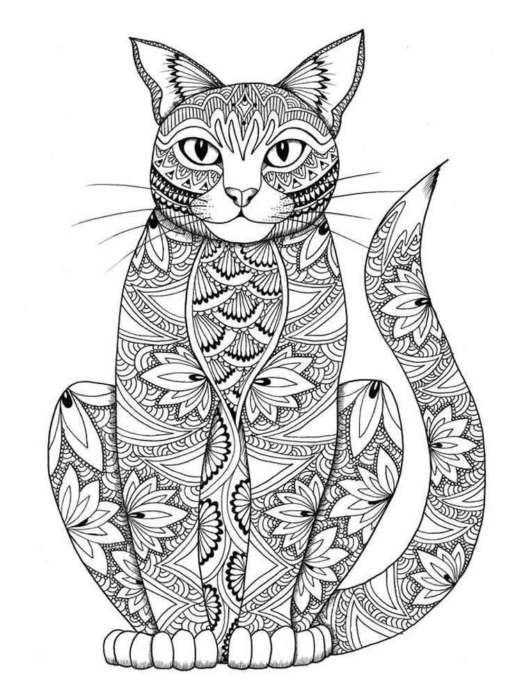 Animals coloring pages for Adults. Free Printable Animals ... | printable colouring pages for adults animals