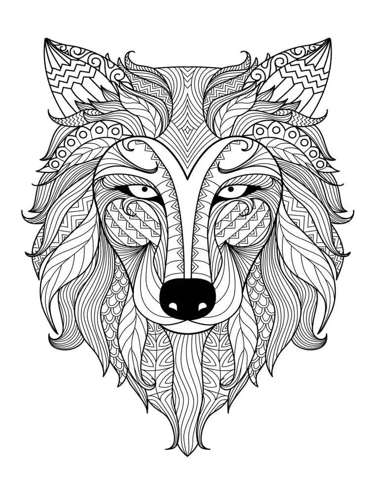 Animal mandala coloring pages for adult. Free Printable ... | colouring pages mandala animals