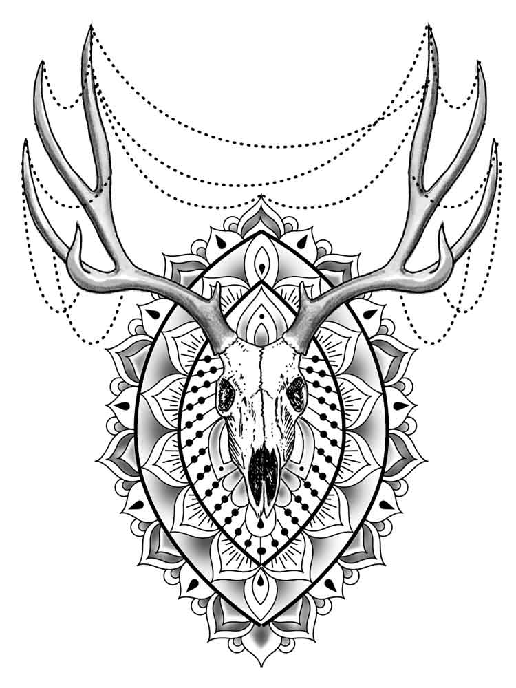 Animal mandala coloring pages for adult. Free Printable ... | mandala coloring pages printable animals