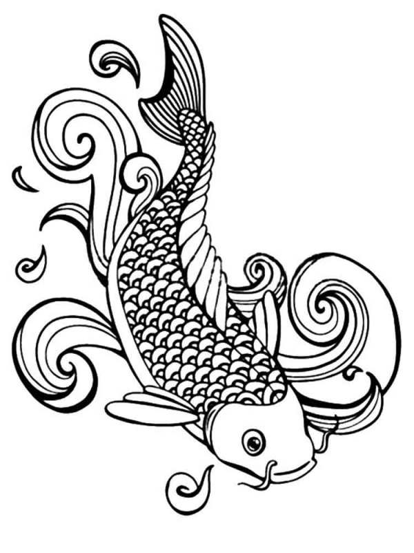 koi fish coloring pages # 18