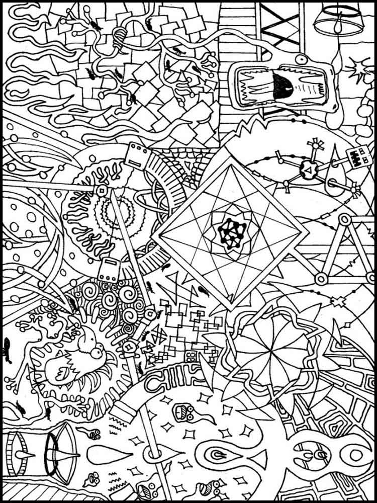 psychedelic coloring pages for adults. free printable