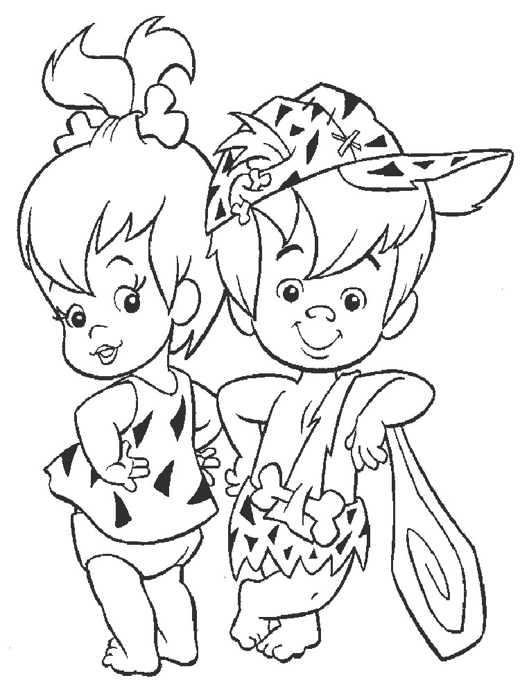 The Flintstones Coloring Pages Download And Print The