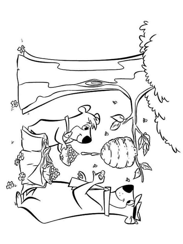 yogi bear coloring pages. free printable yogi bear