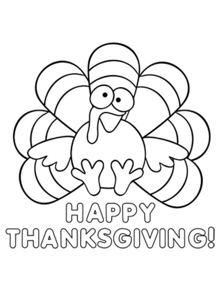 happy thanksgiving coloring pages. free printable happy