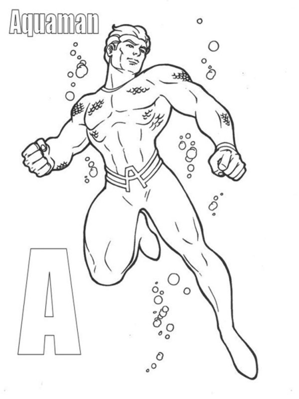 aquaman coloring pages # 73