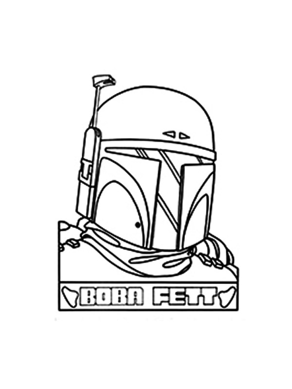 boba fett coloring page # 33