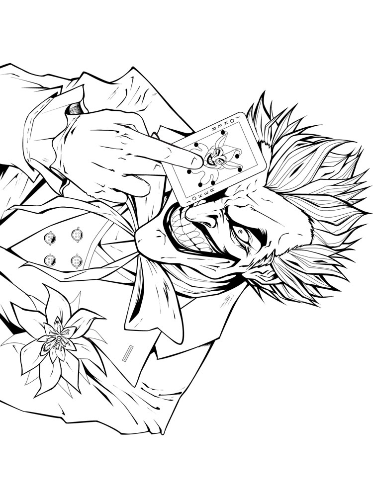 joker coloring pages. free printable joker coloring pages.