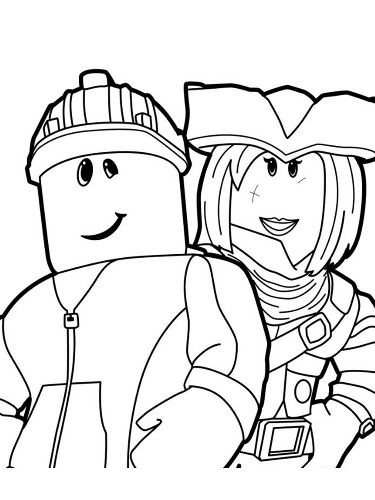 free printable coloring cute roblox girl coloring pages