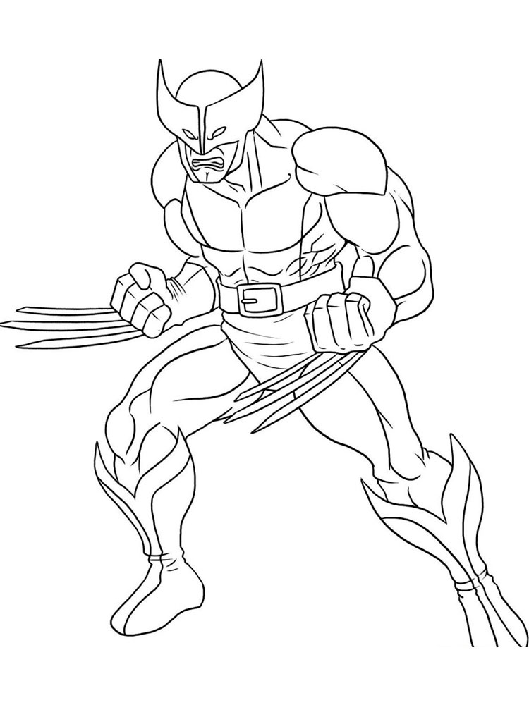wolverine coloring pages. free printable wolverine