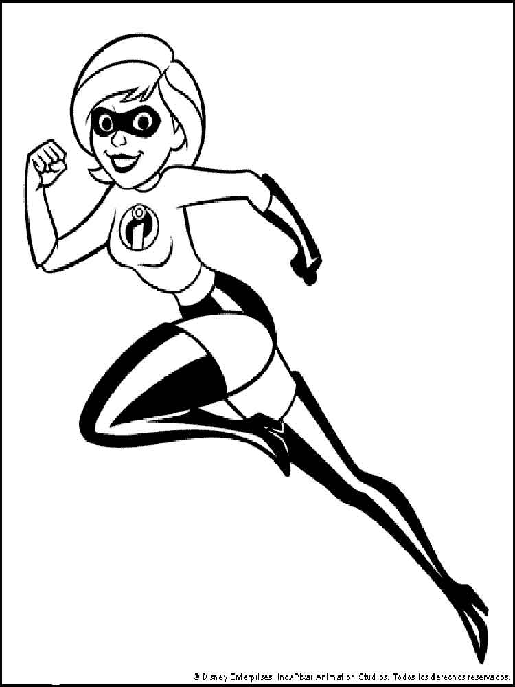 The Incredibles Coloring Pages Download And Print The