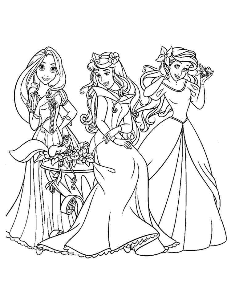 Disney princess coloring pages to print. Free Disney ... | free colouring pages disney princesses