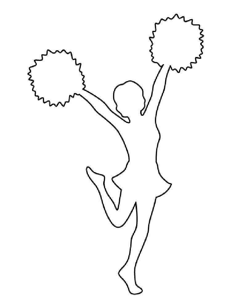 cheerleader coloring pages. free printable cheerleader