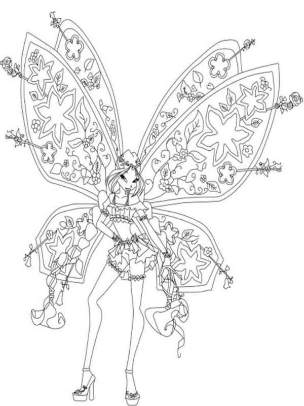 Flora Winx coloring pages. Download and print Flora Winx ...