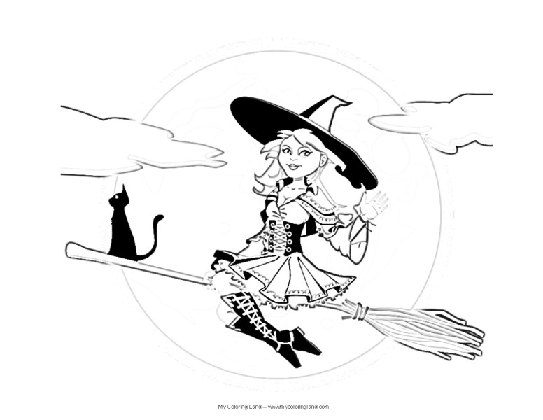 Halloween   My Coloring Land Halloween Coloring Pages
