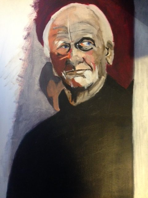 Portrait of Mark Reichert's Father, possibly oil paint on canvas