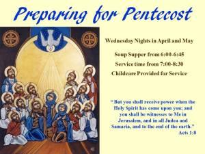 Preparing for Pentecost Banner
