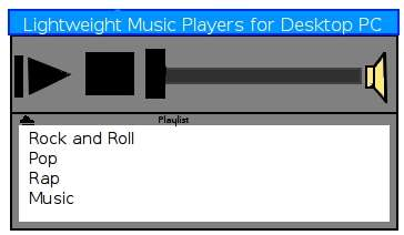 Best Free Lightweight Music Audio Player software for Windows and Linux