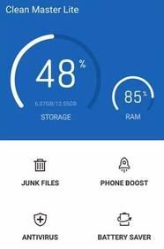 Clean Master Lite – Modern lightweight Disk Cleanup Speed Up App for