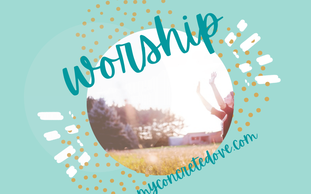 Joyology 101 – How to Worship Your Way to Joy with Enthusiasm light teal background with woman praising God